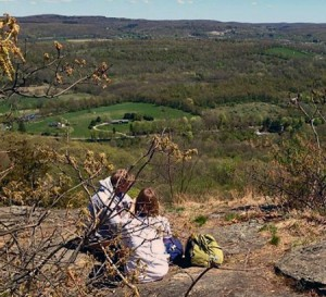 The view of Harlem Valley from Cat Rocks.