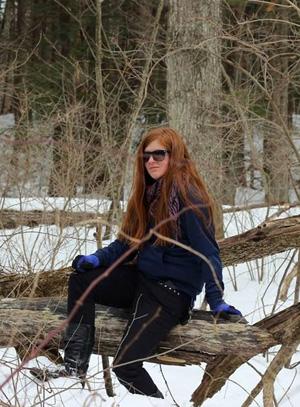 Volunteer hike organizer Amy Knopf
