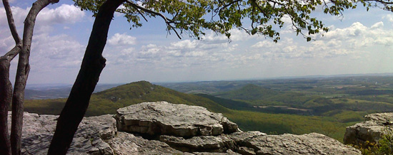 Panoramic vista from The Pinnacle