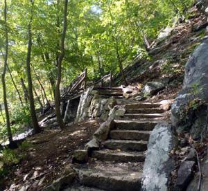 Amazing stone steps set into Bear Mountain.