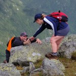 A helping hand to reach the summit.