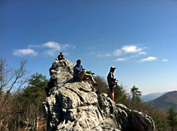 AYCE atop Dragon's Tooth in Virgina