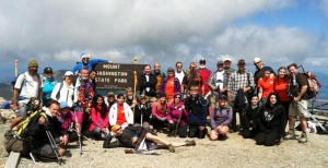 2013 Mt. Washington summit group photo