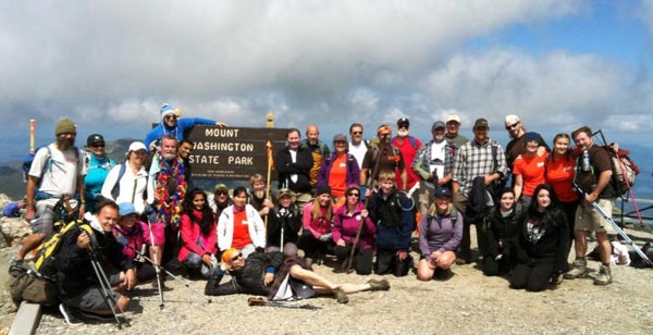 HIKE for Mental Health summits Mt. Washington