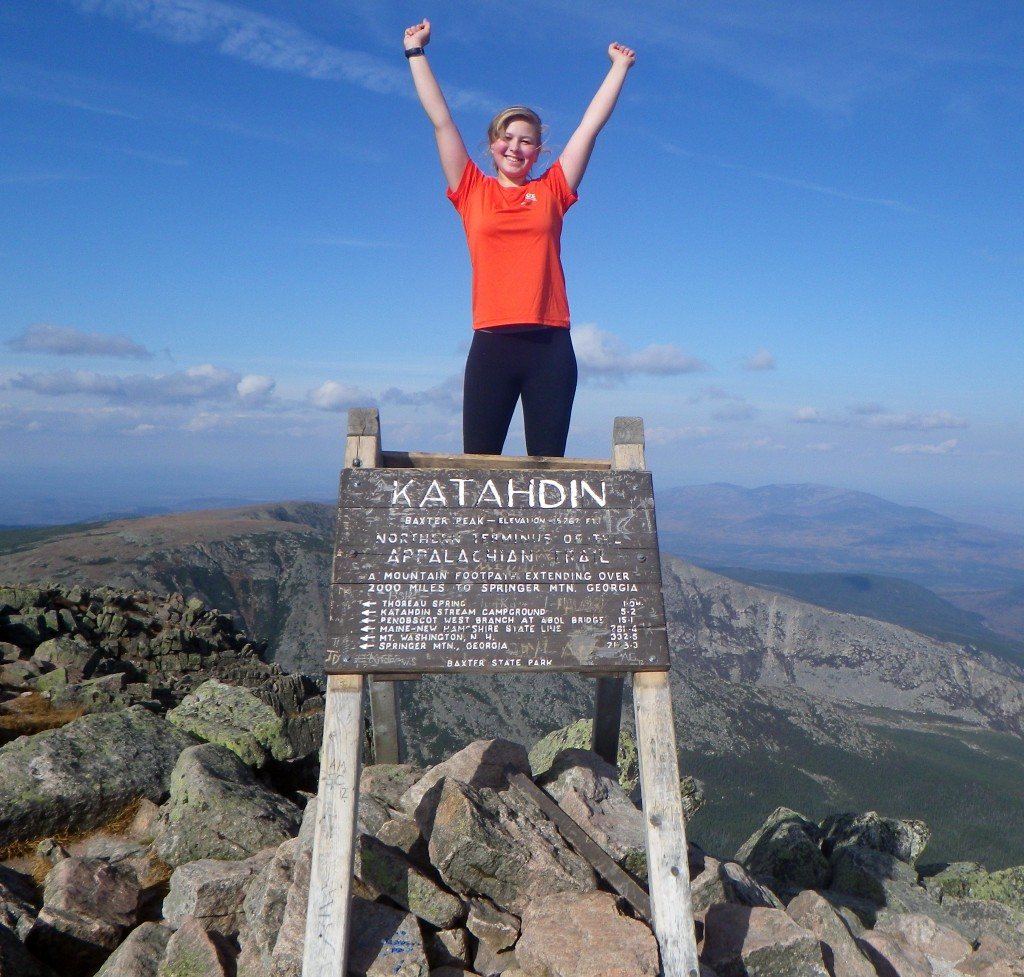 "Neva ""Chipmunk"" Warren, 15, summits Mt. Katahdin"