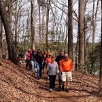 Lake Shore Trail hikers showing their orange