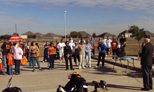 Mayor Reid addresses participants before the walk.