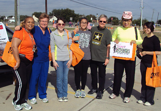 Marylyn Harris and others from the Women Veterans Business Center volunteered at the walk.