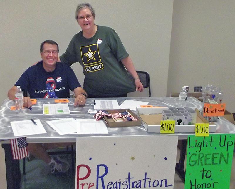 Linda and Glen at registration